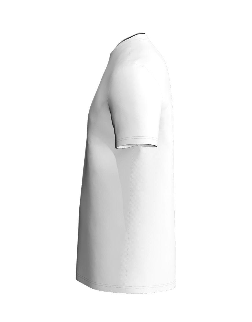 cotton stretch mens t shirt 3d white left