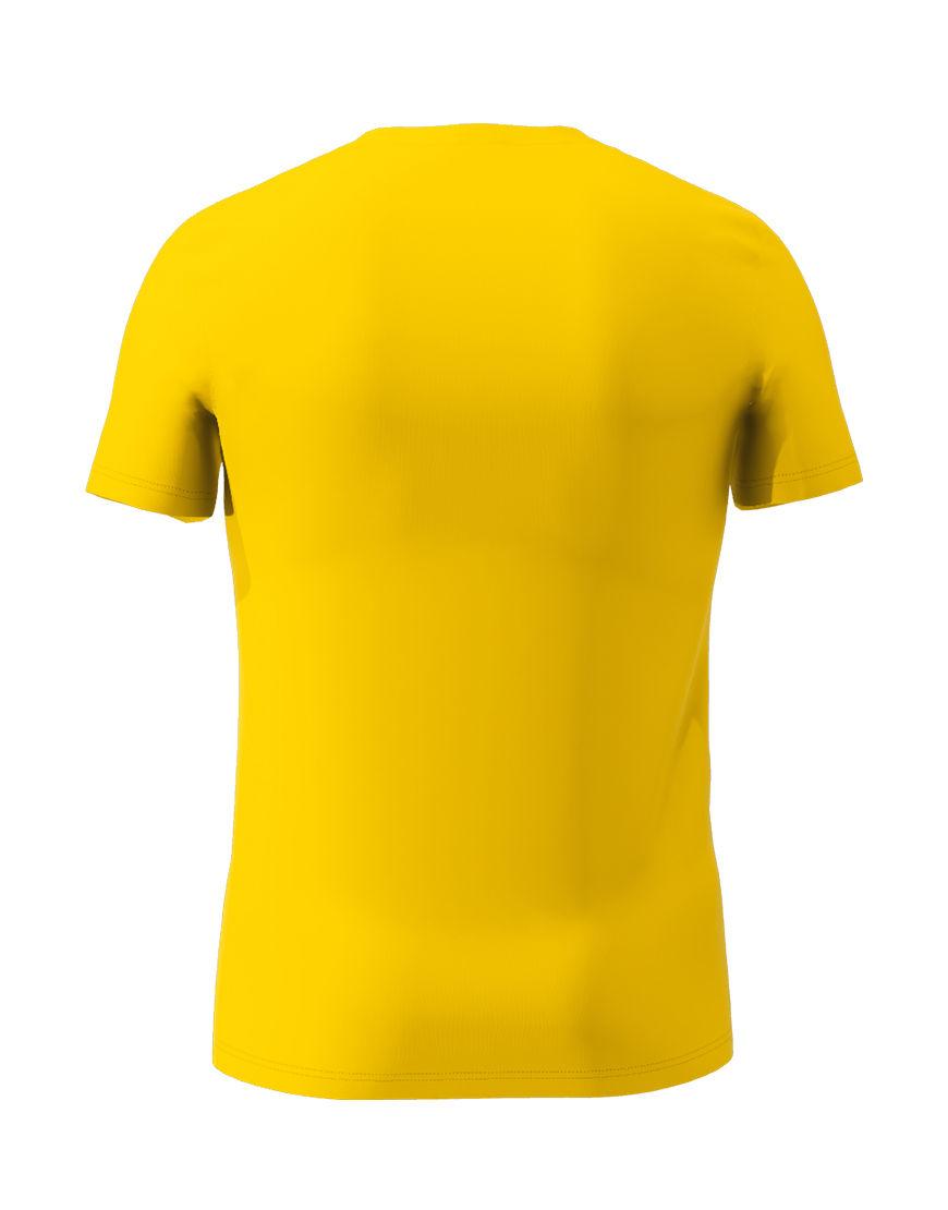 cotton stretch mens t shirt 3d yellow back