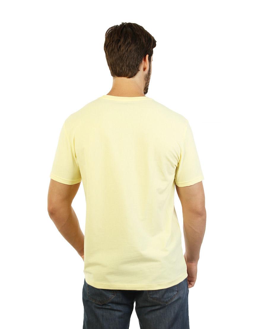 cotton stretch mens t shirt light yellow back