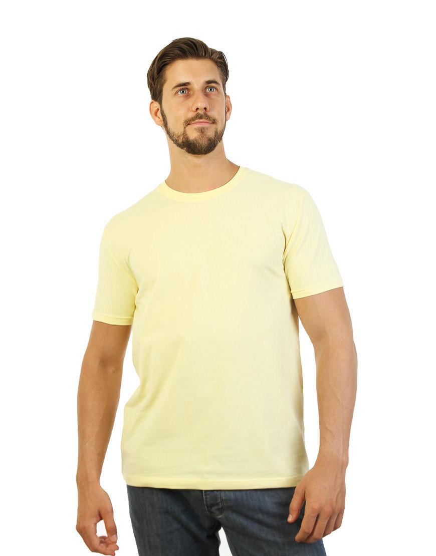 cotton stretch mens t shirt light yellow