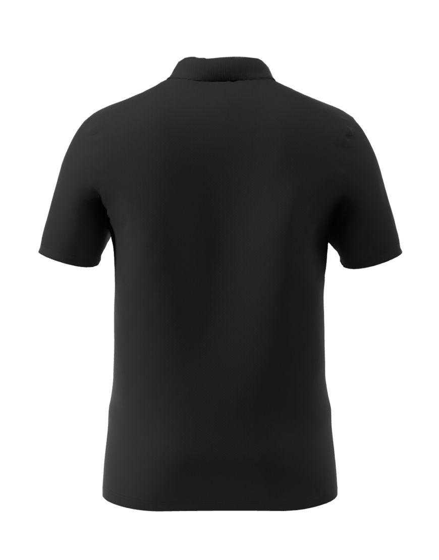 cotton stretch unisex 3d polo black back