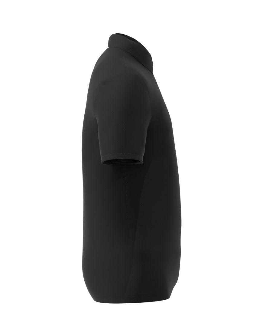 cotton stretch unisex 3d polo black right