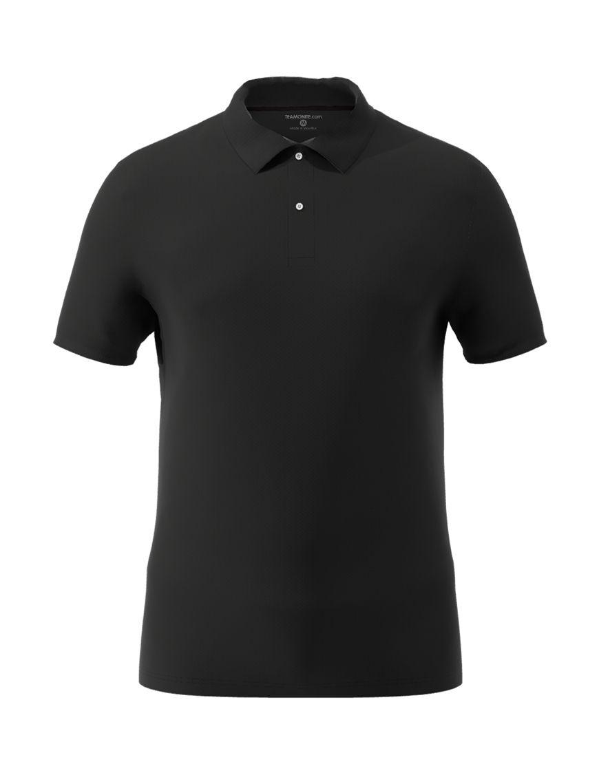 cotton stretch unisex 3d polo black