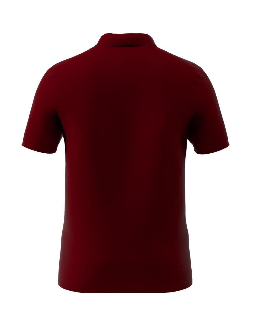 cotton stretch unisex 3d polo burgundy back