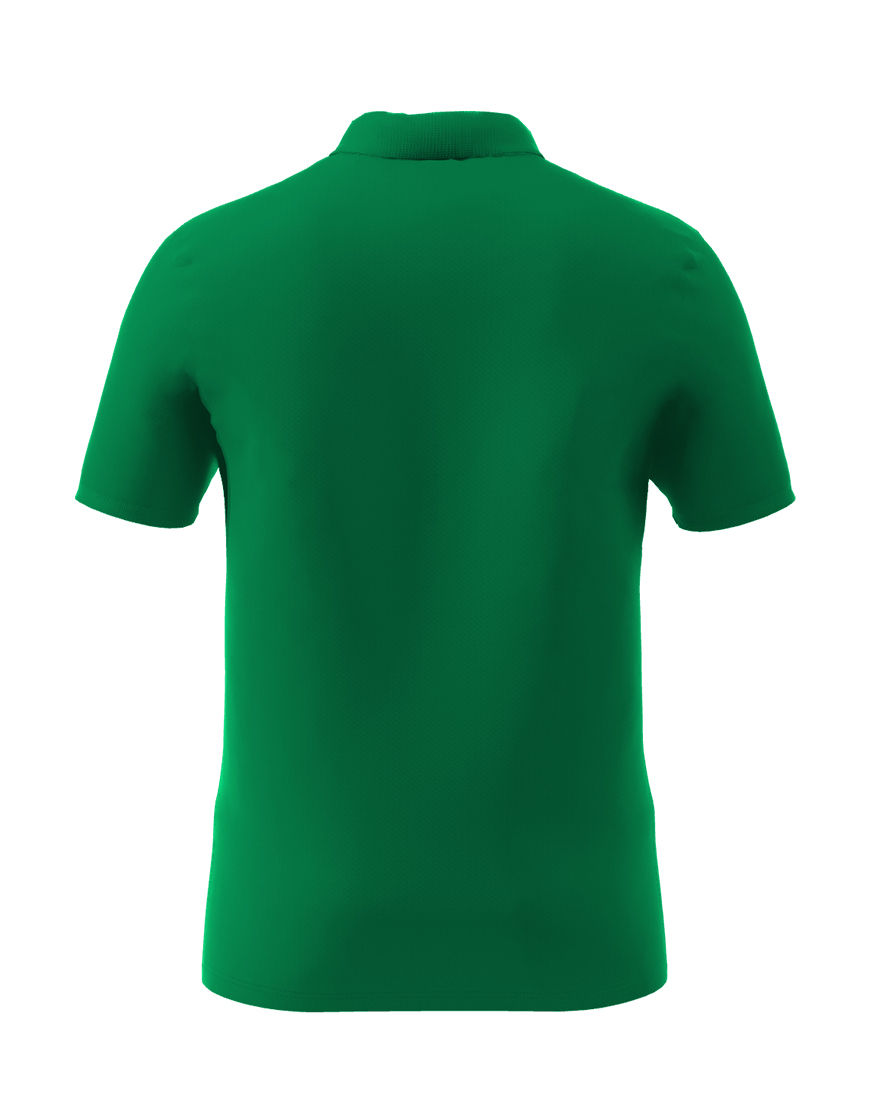 cotton stretch unisex 3d polo emerald green back