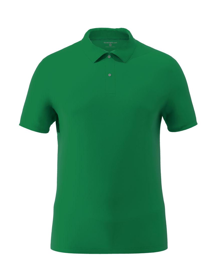 cotton stretch unisex 3d polo emerald green