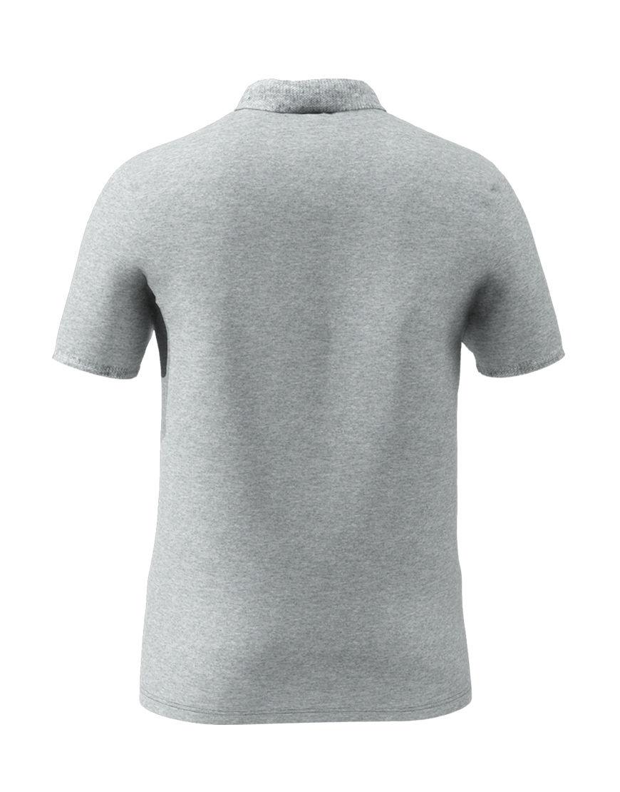 cotton stretch unisex 3d polo grey back
