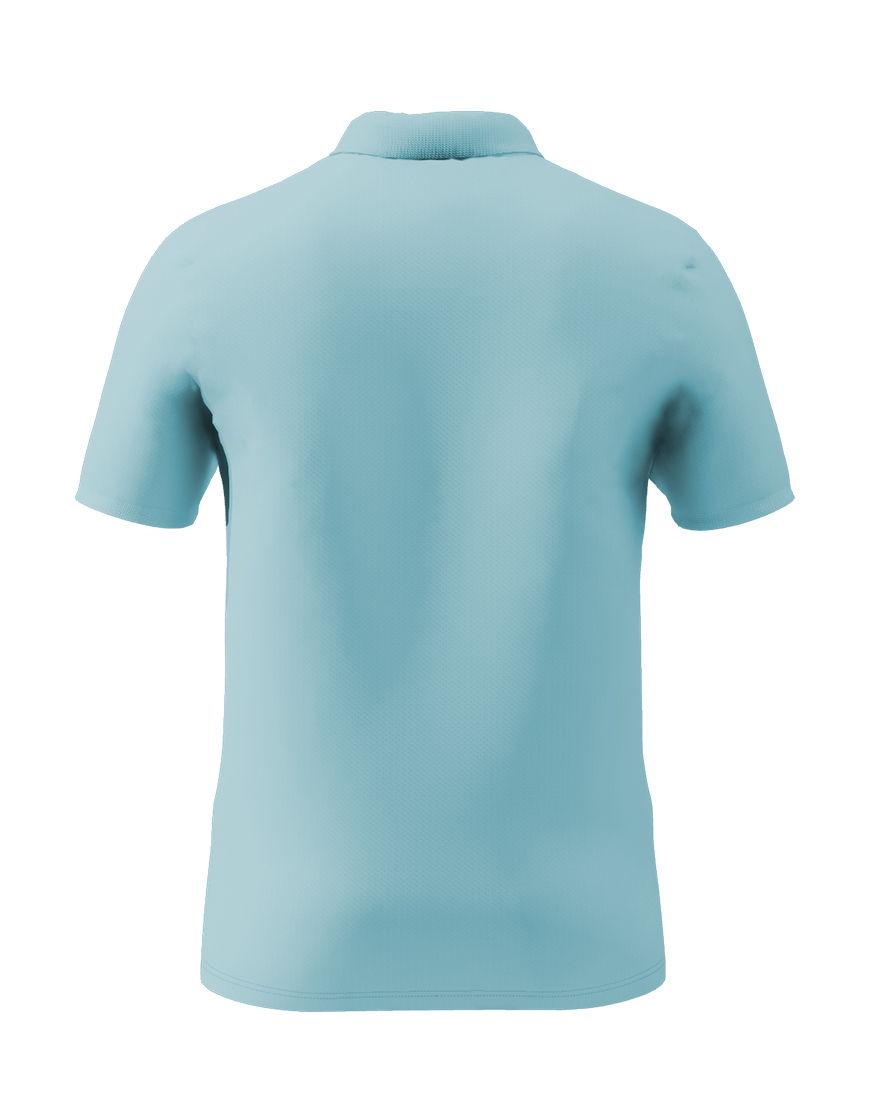 cotton stretch unisex 3d polo light blue back