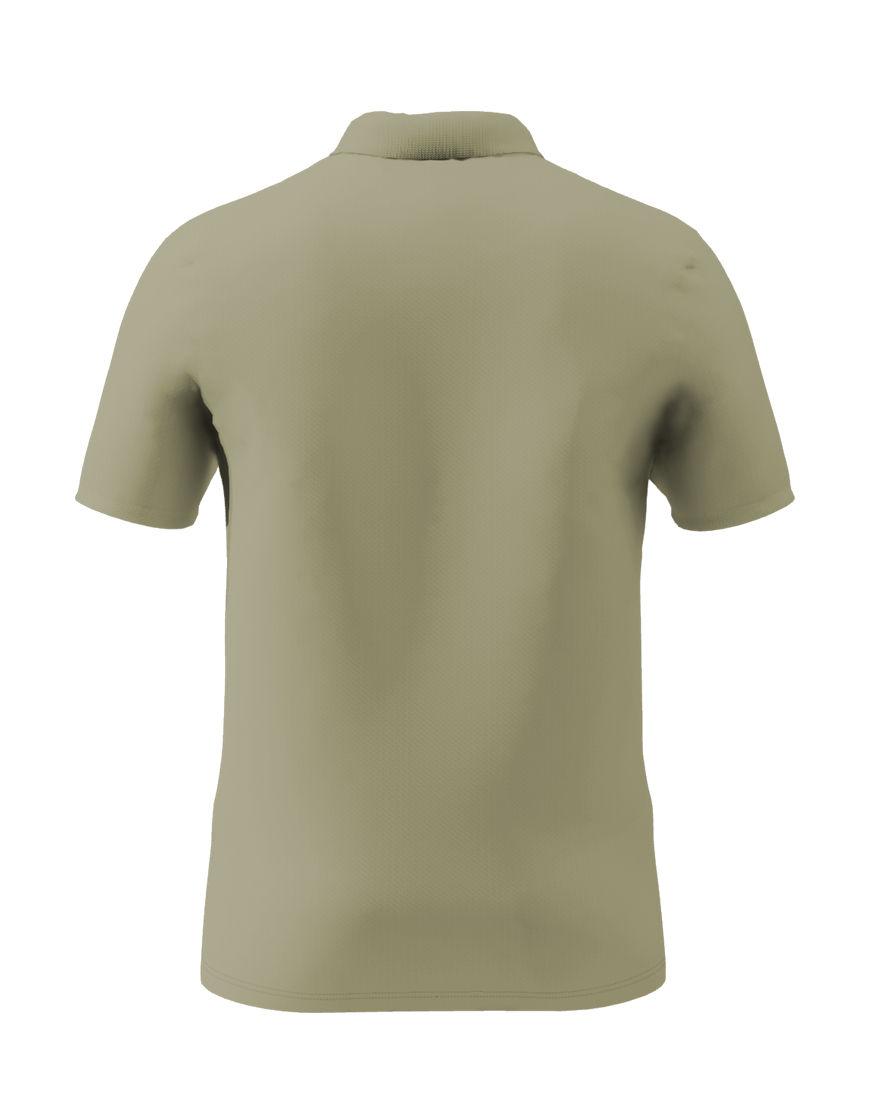 cotton stretch unisex 3d polo light khaki back