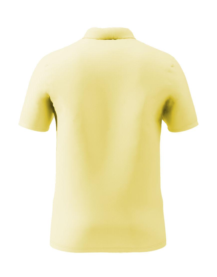 cotton stretch unisex 3d polo light yellow back