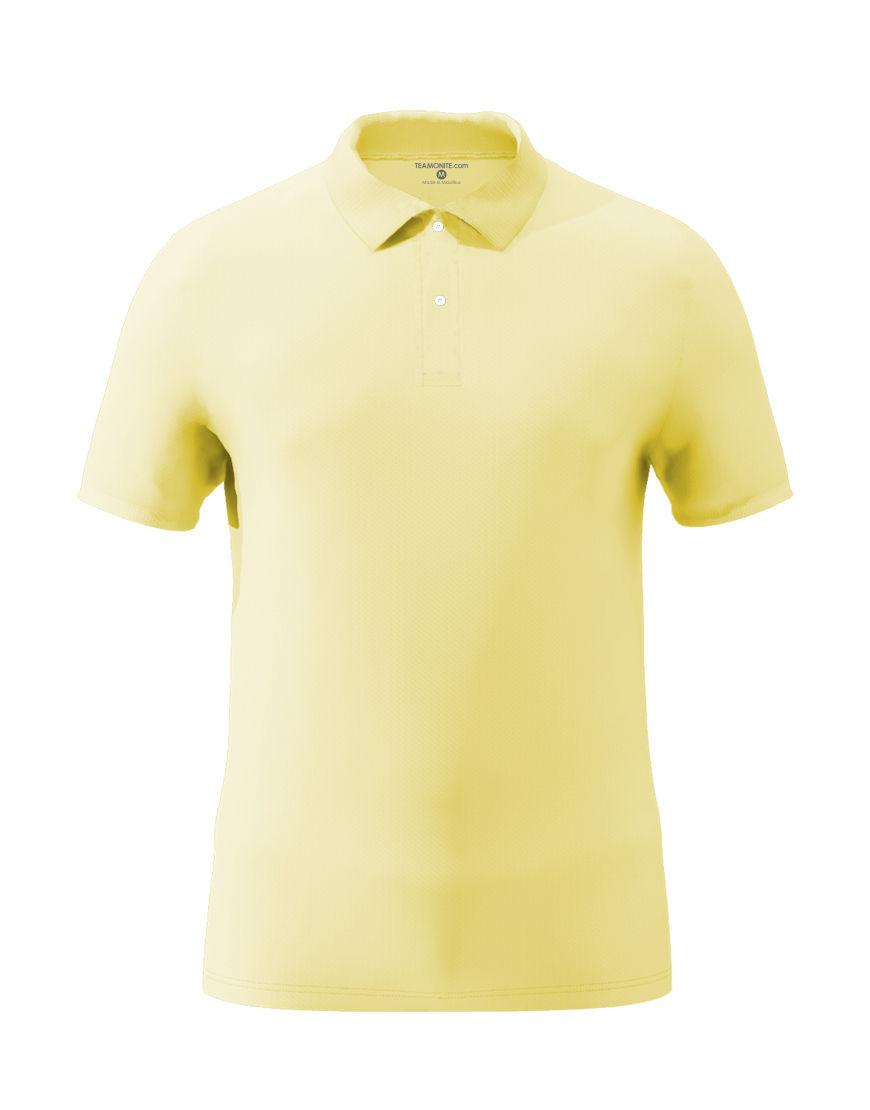 cotton stretch unisex 3d polo light yellow