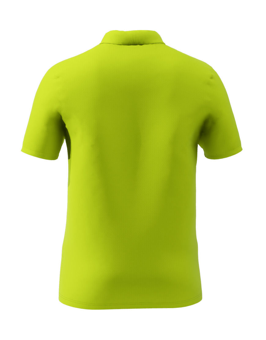 cotton stretch unisex 3d polo lime punch back