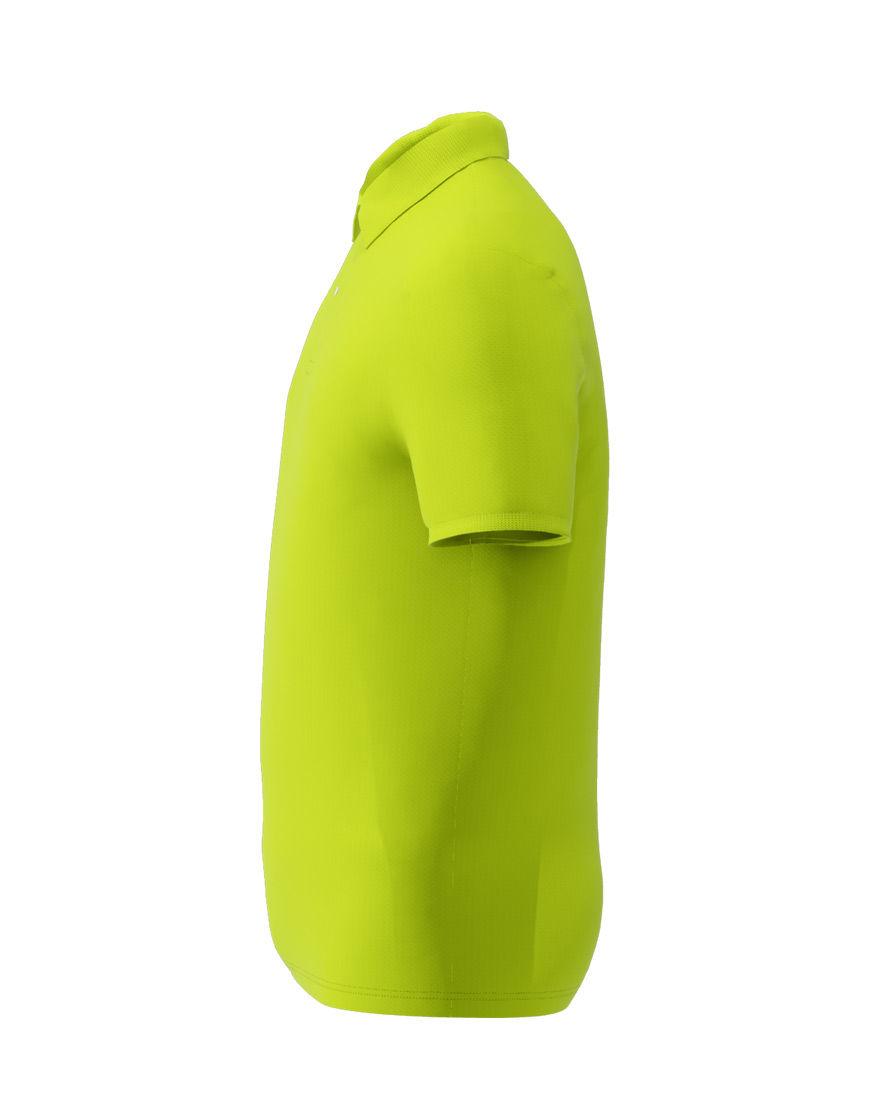 cotton stretch unisex 3d polo lime punch left
