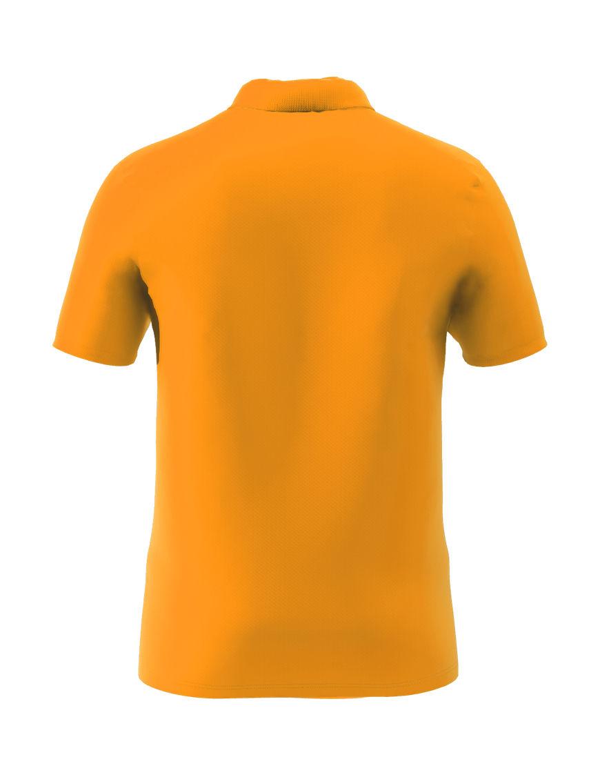 cotton stretch unisex 3d polo orange back