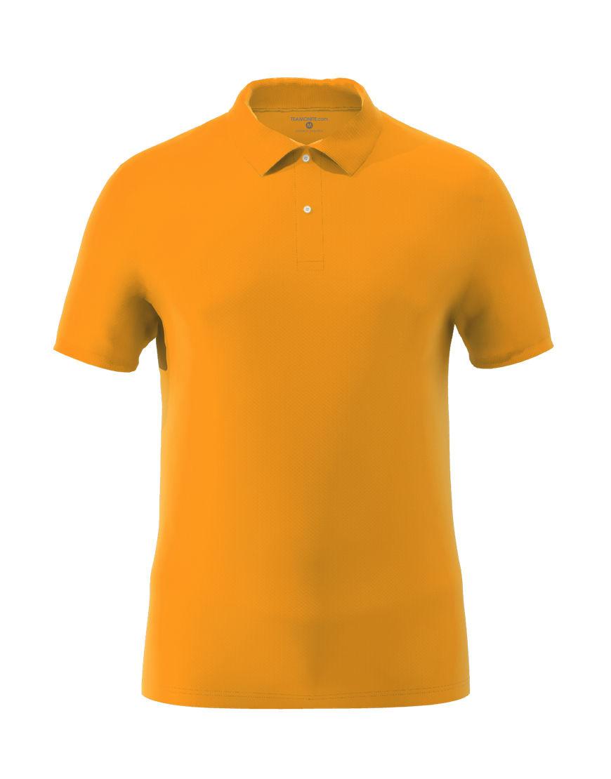 cotton stretch unisex 3d polo orange