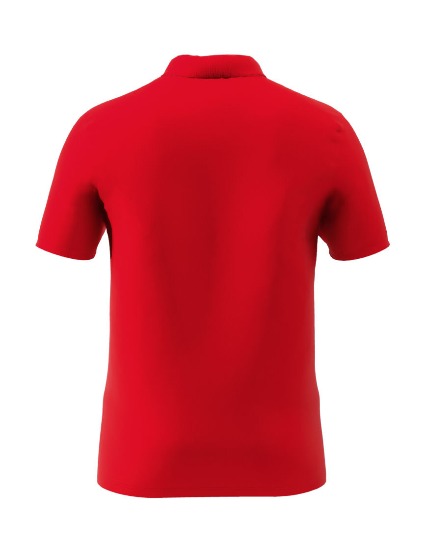 cotton stretch unisex 3d polo red back