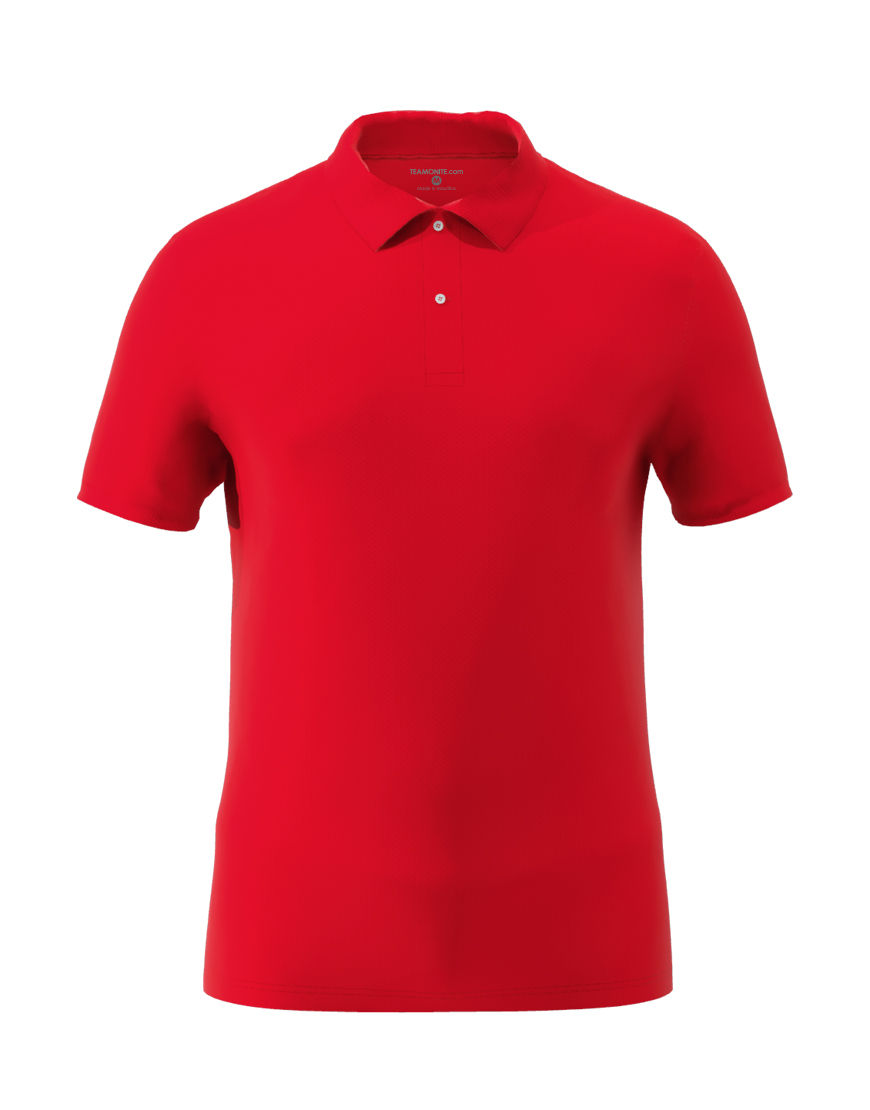 cotton stretch unisex 3d polo red