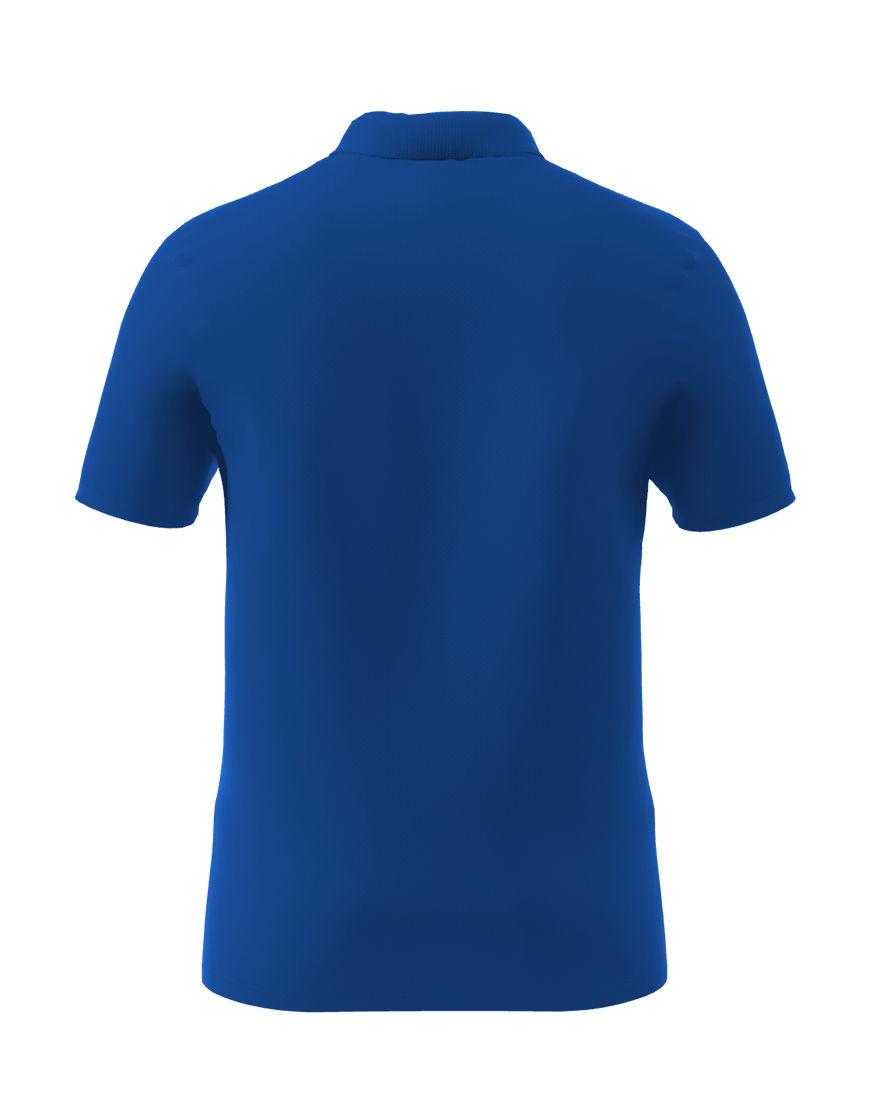 cotton stretch unisex 3d polo royal blue back