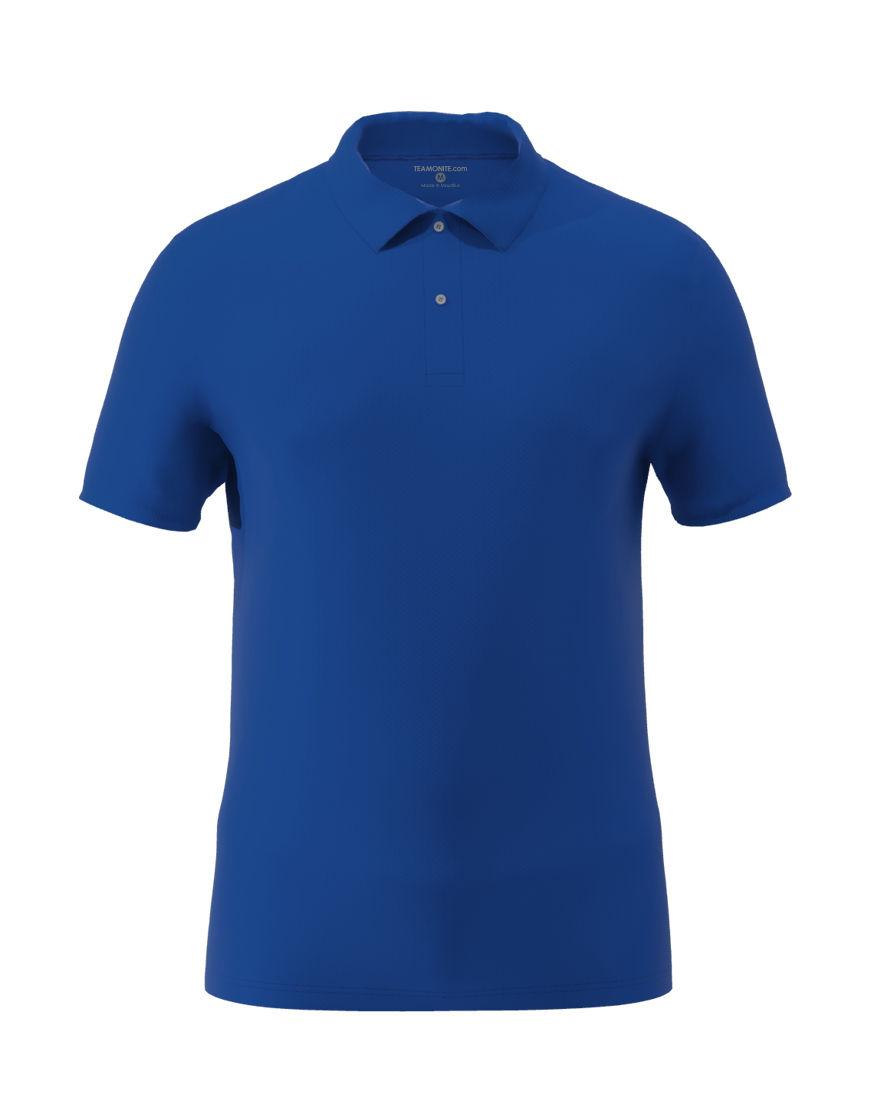 cotton stretch unisex 3d polo royal blue