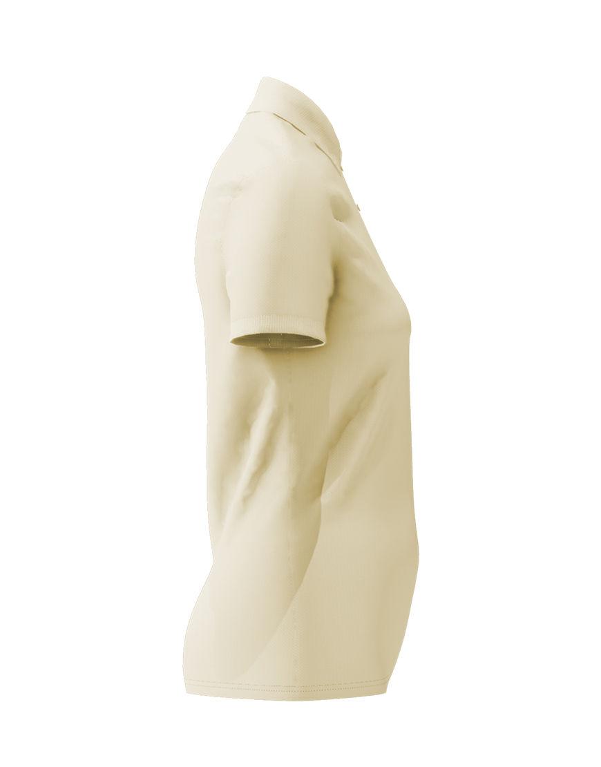 cotton stretch women 3d polo beige right