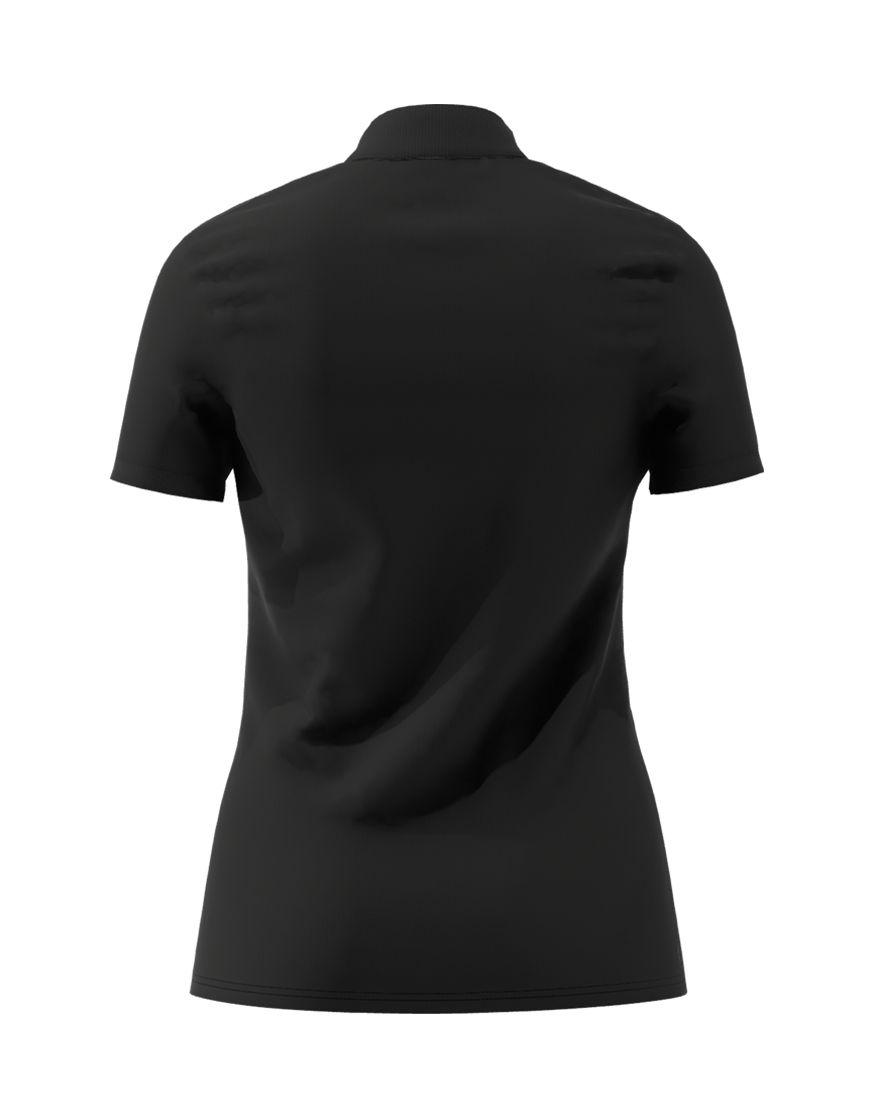 cotton stretch women 3d polo black back