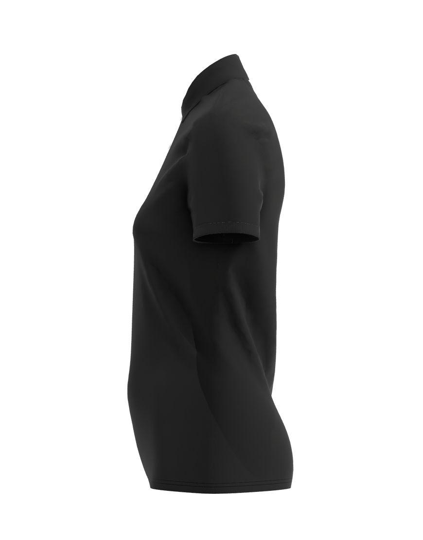cotton stretch women 3d polo black left