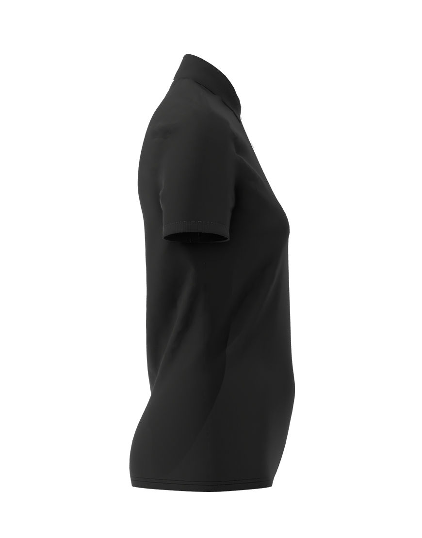 cotton stretch women 3d polo black right