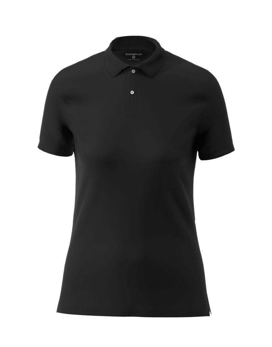 cotton stretch women 3d polo black