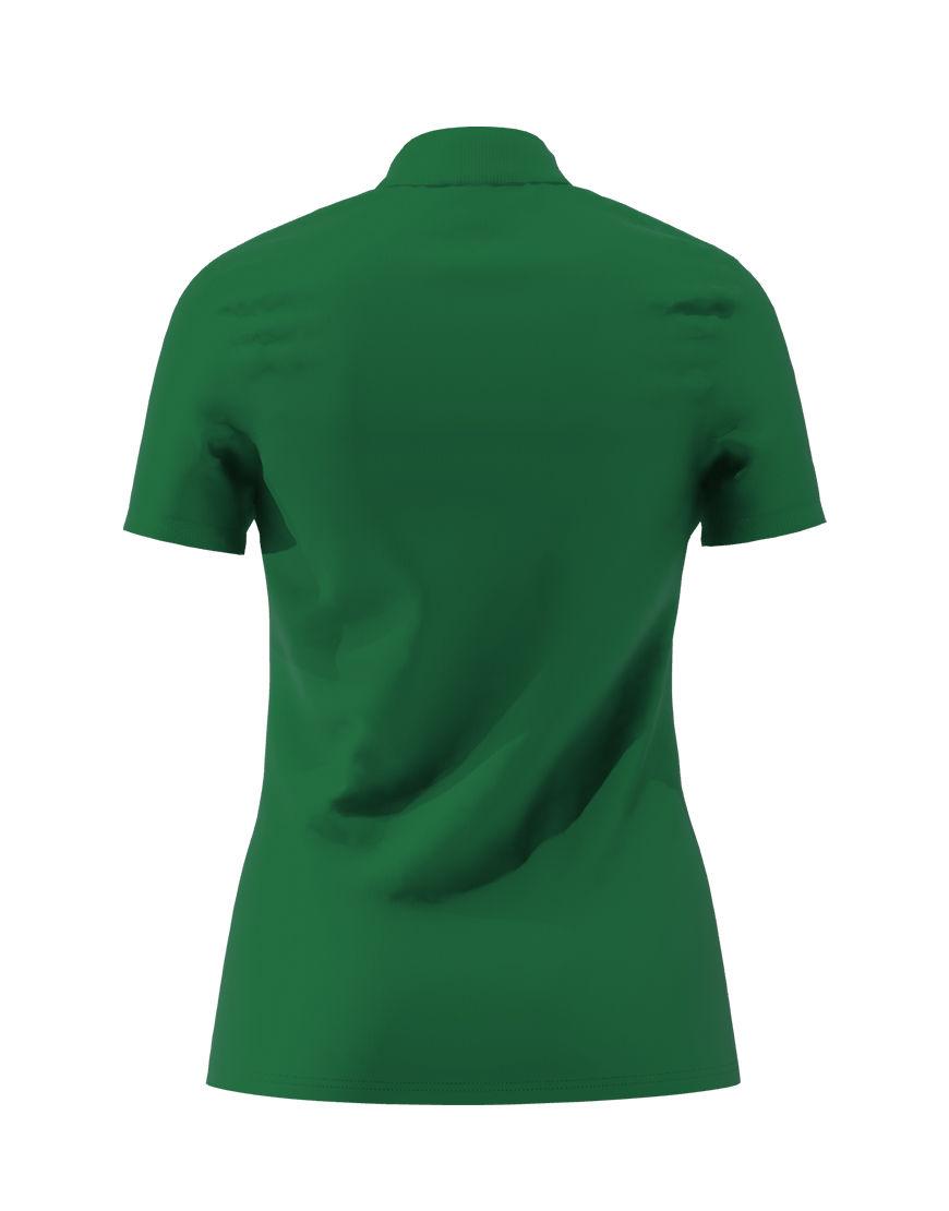 cotton stretch women 3d polo emerald green back