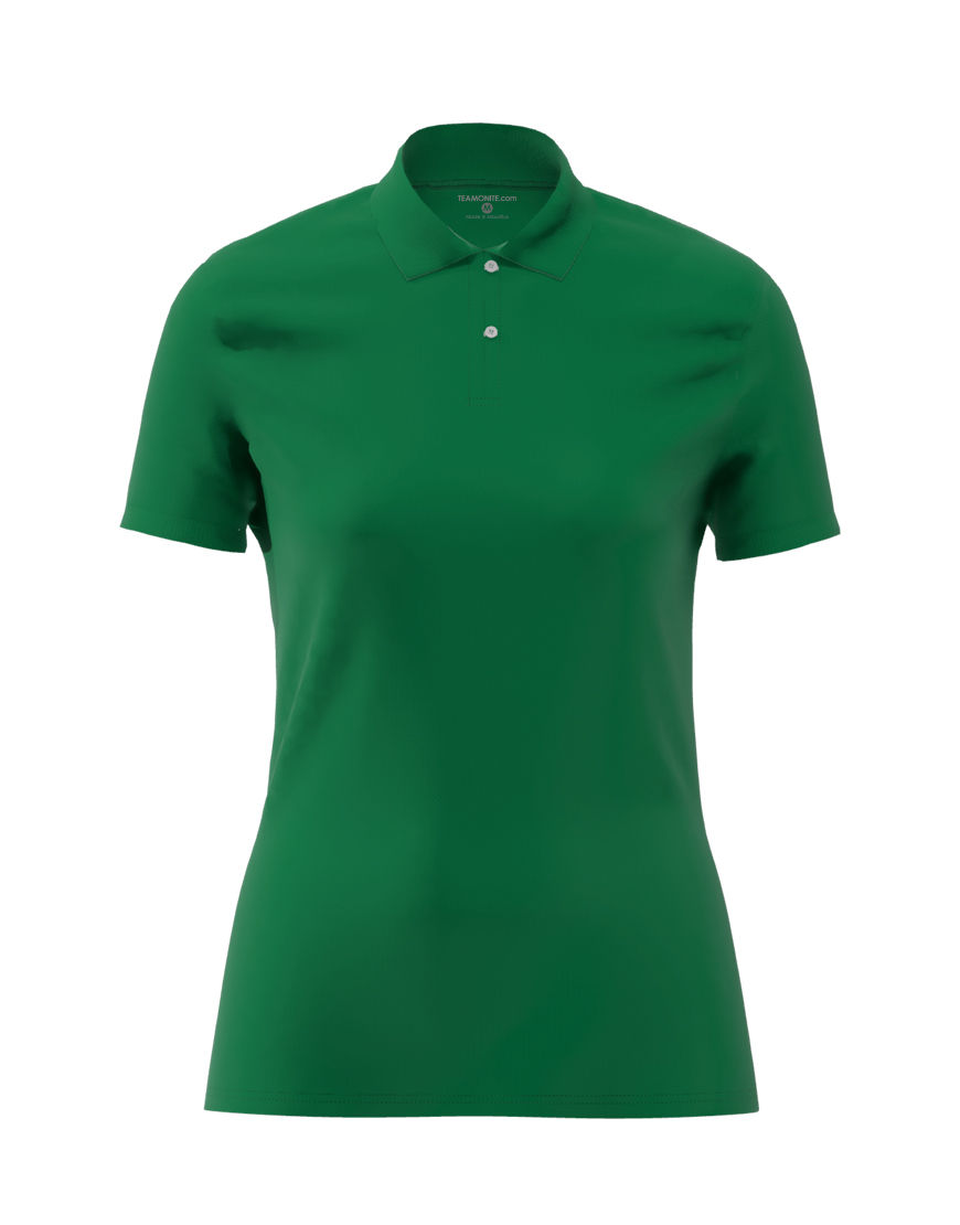 cotton stretch women 3d polo emerald green