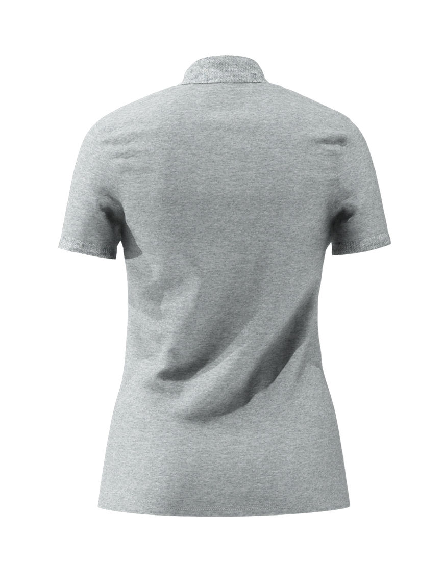 cotton stretch women 3d polo grey back