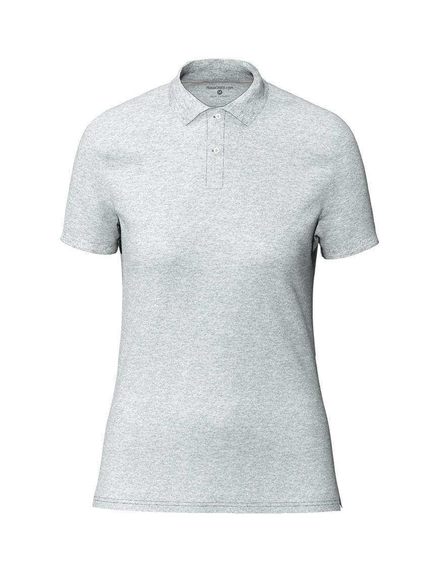 cotton stretch women 3d polo grey