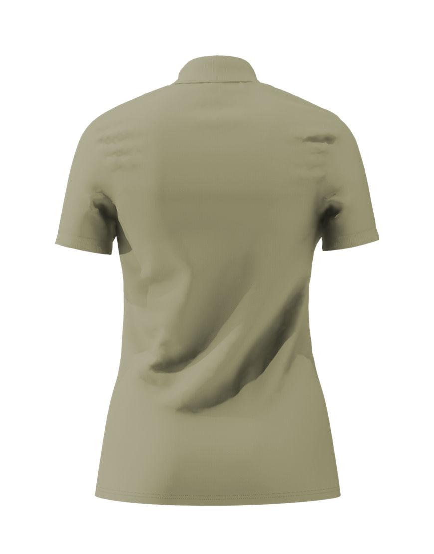 cotton stretch women 3d polo light khaki back