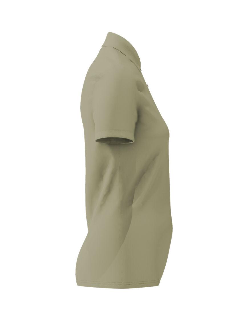 cotton stretch women 3d polo light khaki right