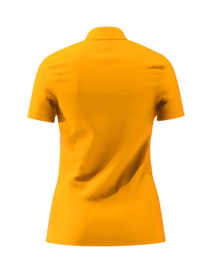 cotton stretch women 3d polo orange back