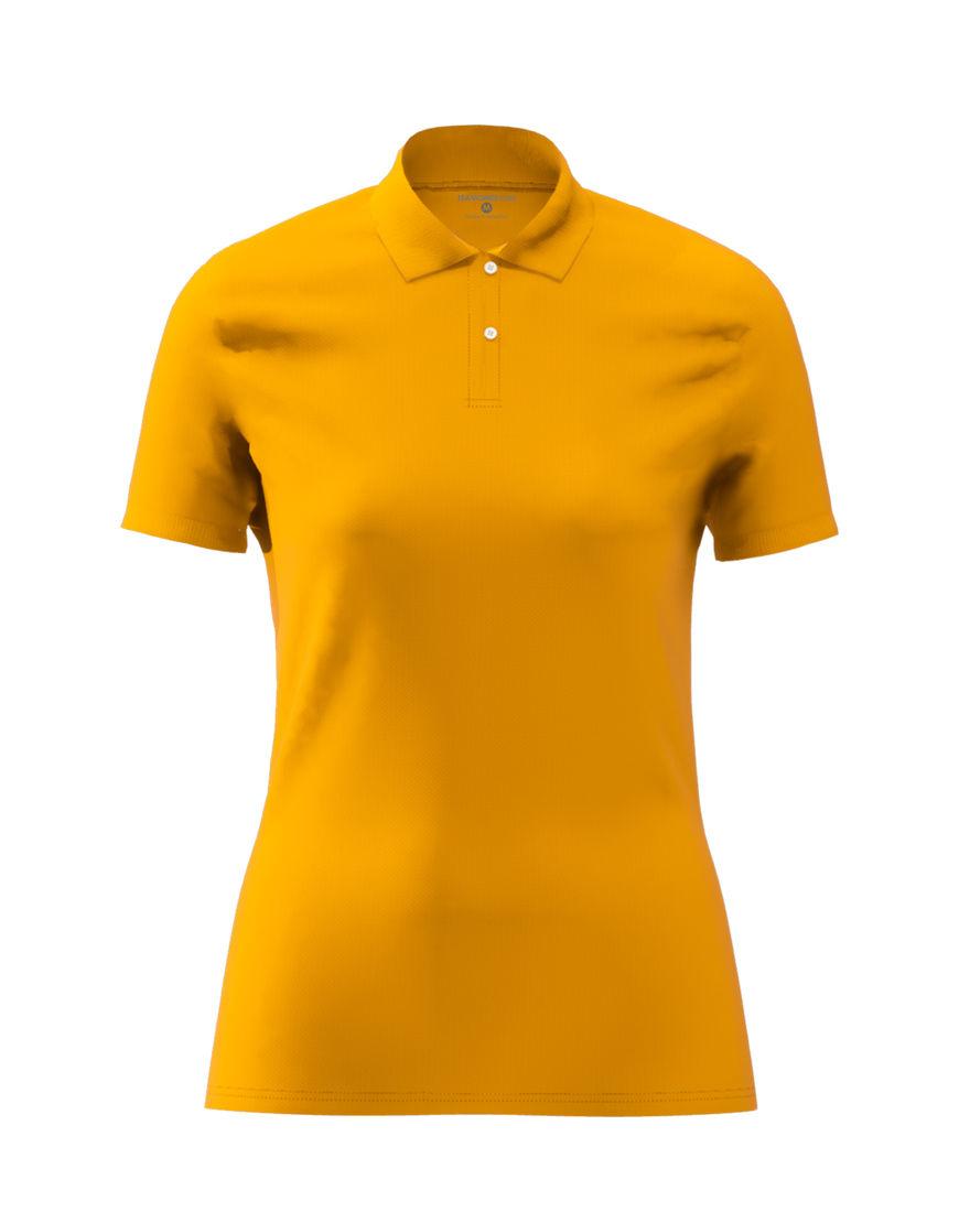 cotton stretch women 3d polo orange
