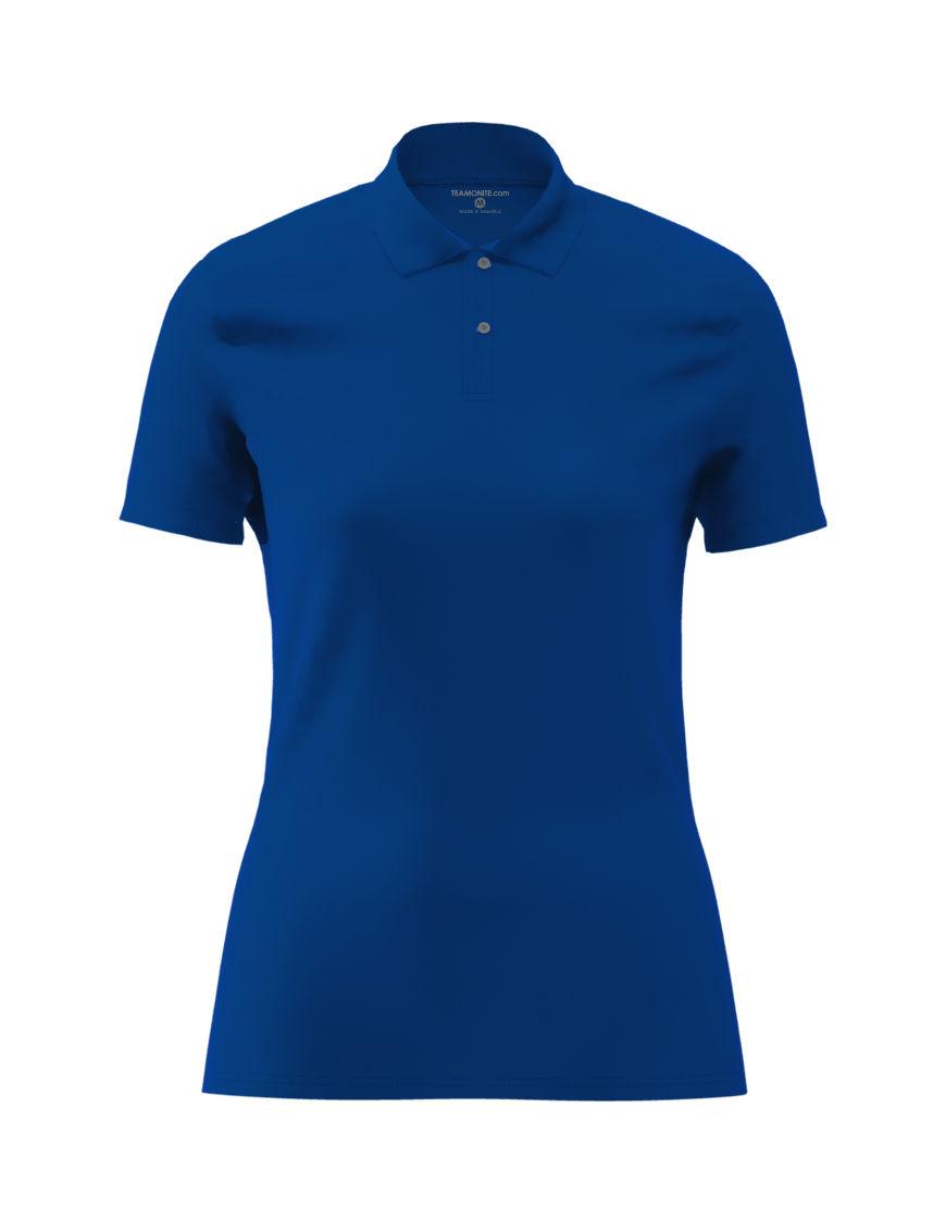 cotton stretch women 3d polo royal blue