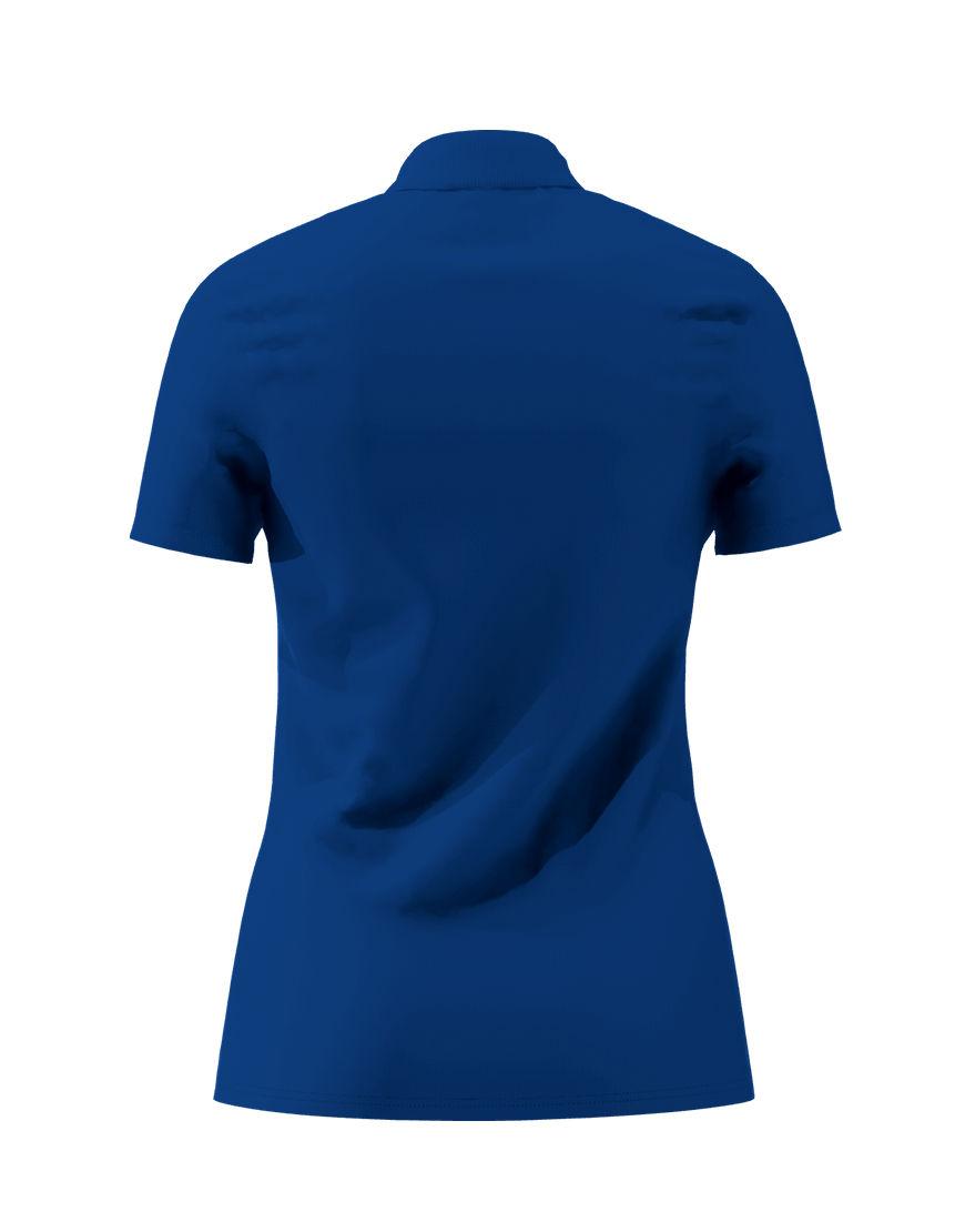 cotton stretch women 3d polo royal blue back