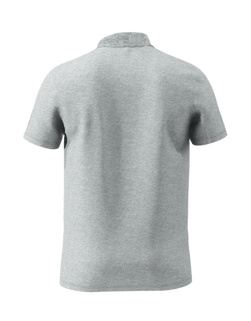 cotton unisex 3d polo grey back