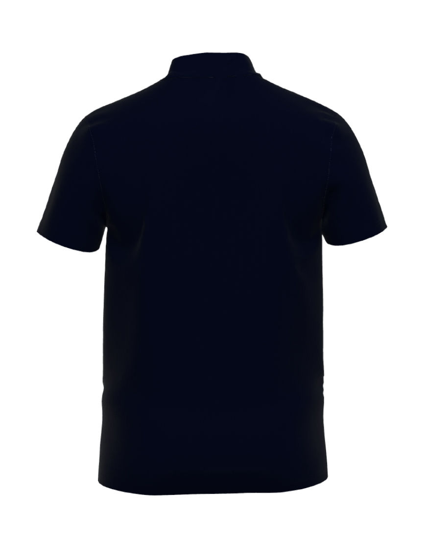 cotton unisex 3d polo navy back