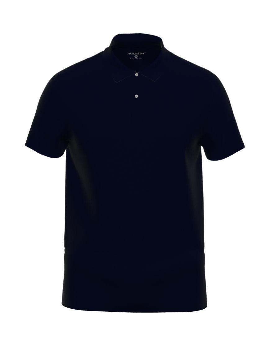 cotton unisex 3d polo navy