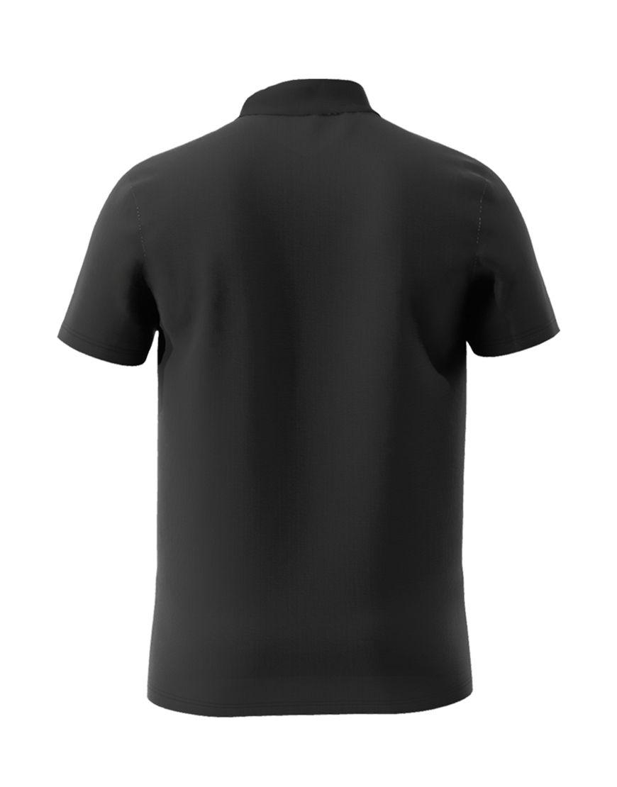 cotton unisex polo black back