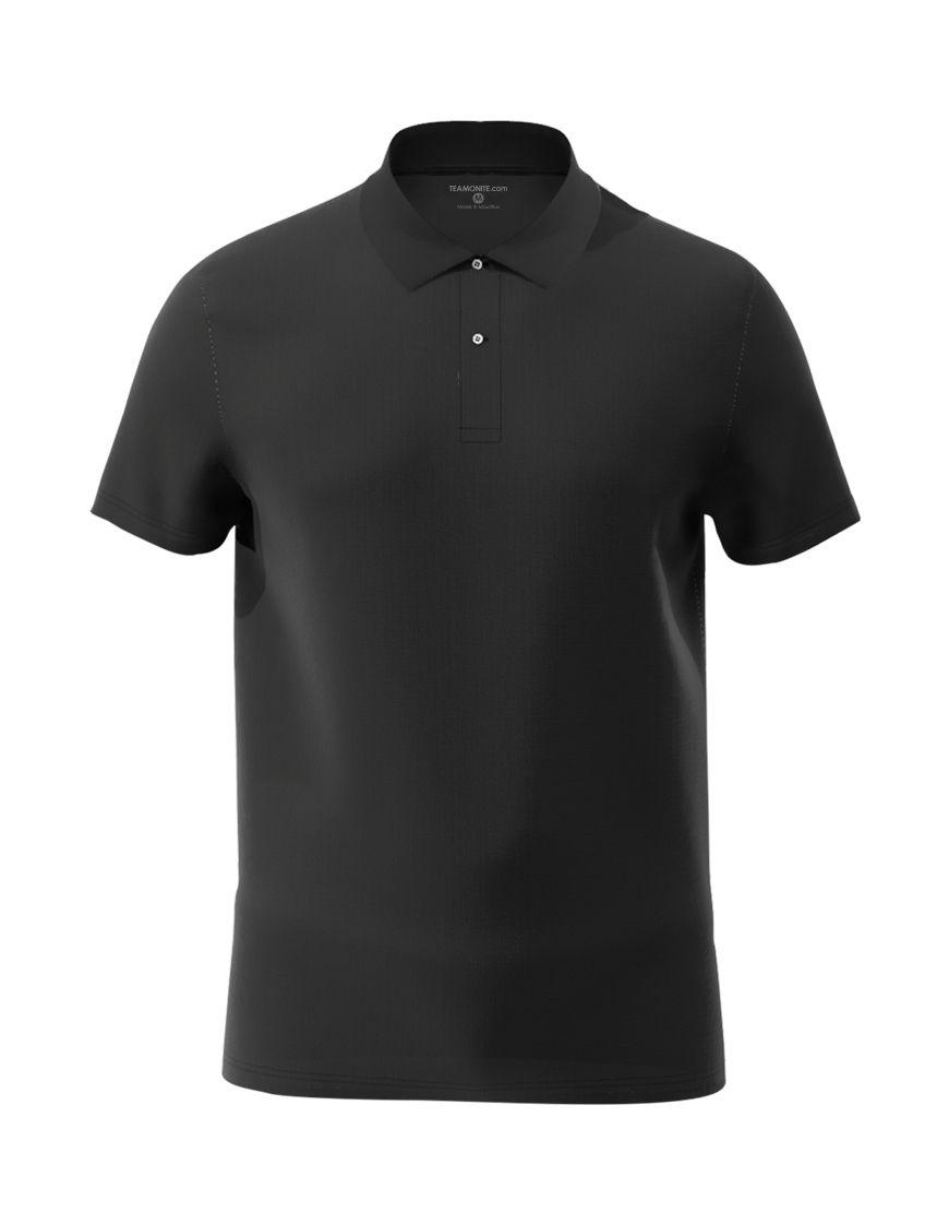 cotton unisex polo black