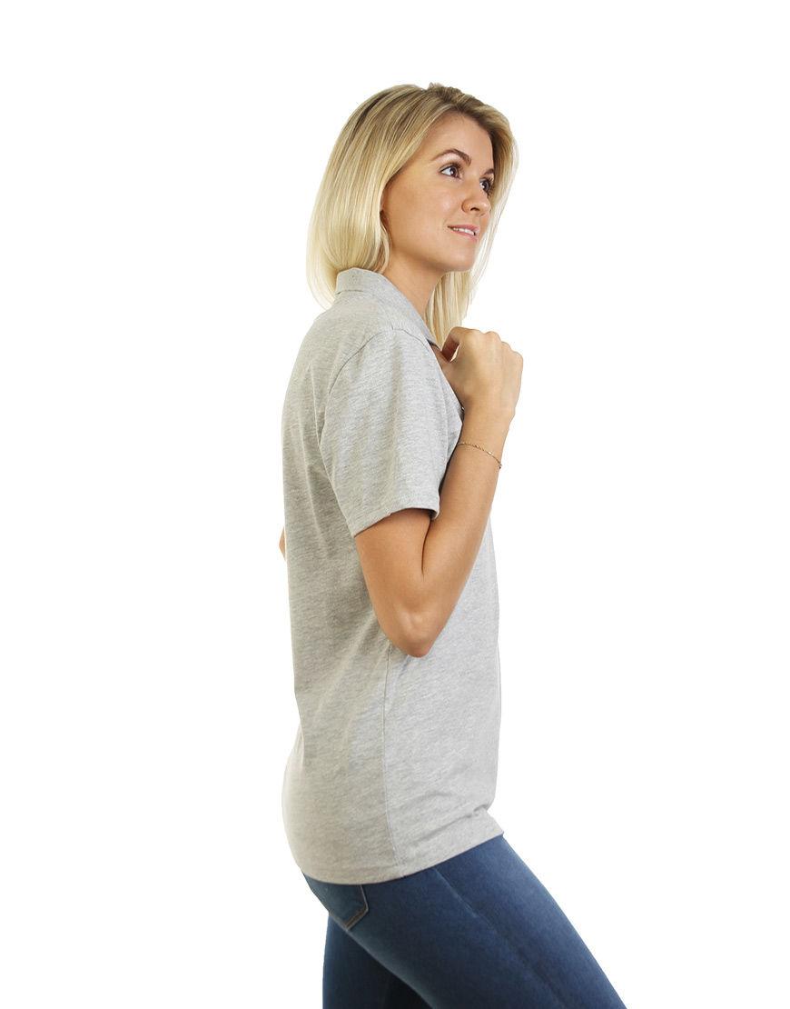 cotton unisex polo grey right