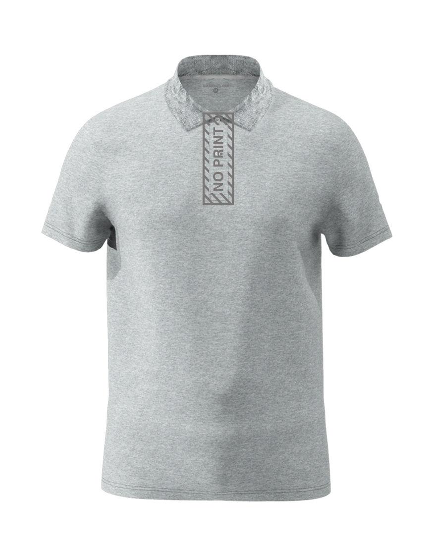 cotton unisex polo grey