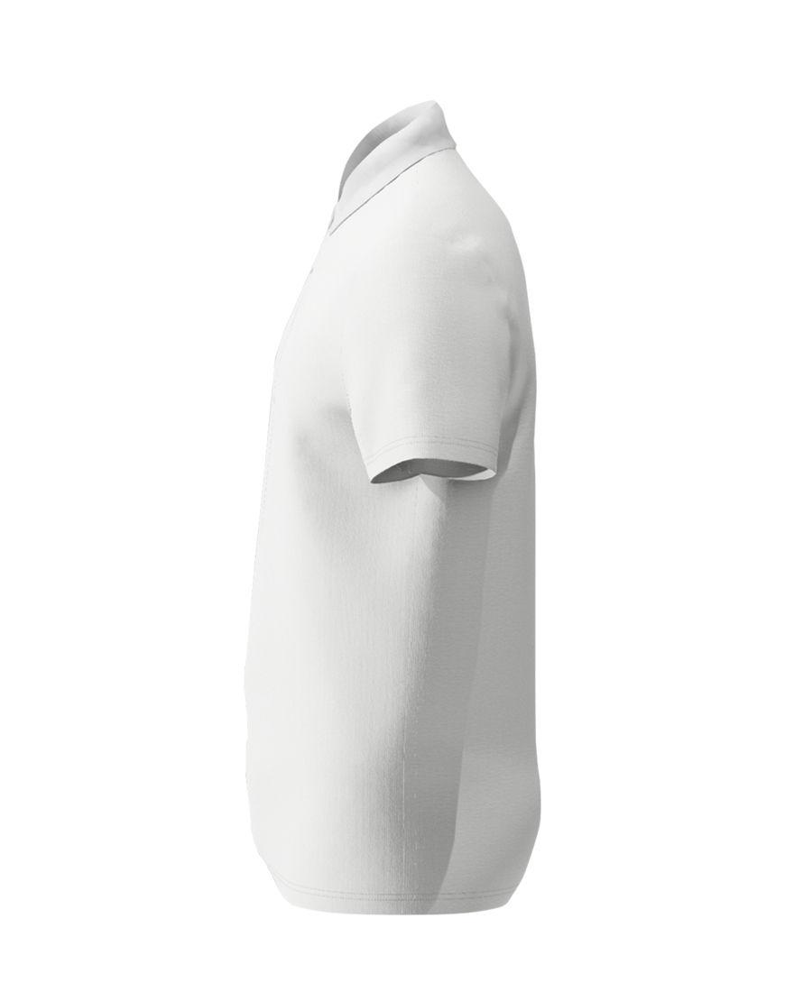 cotton unisex polo white left