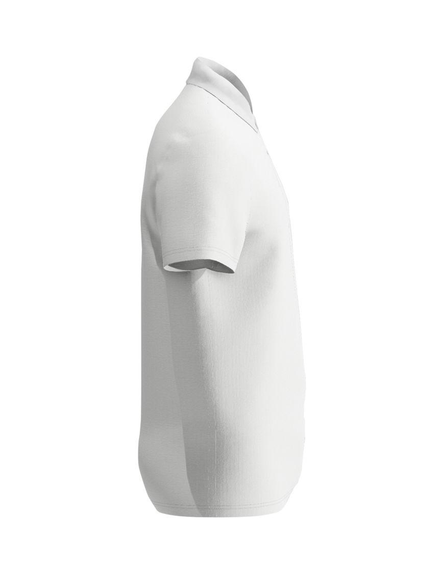 cotton unisex polo white right