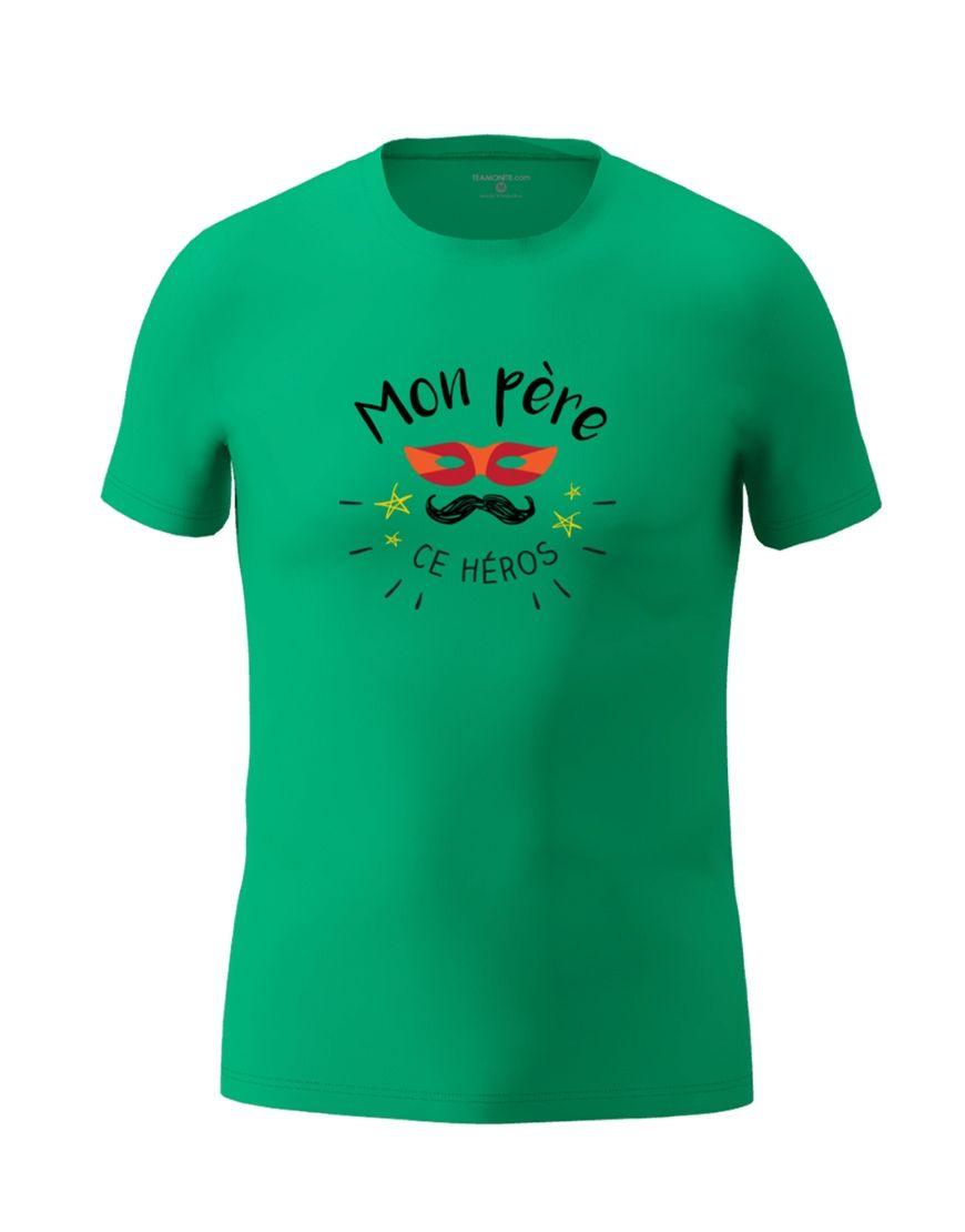 dad hero t shirt emeral green