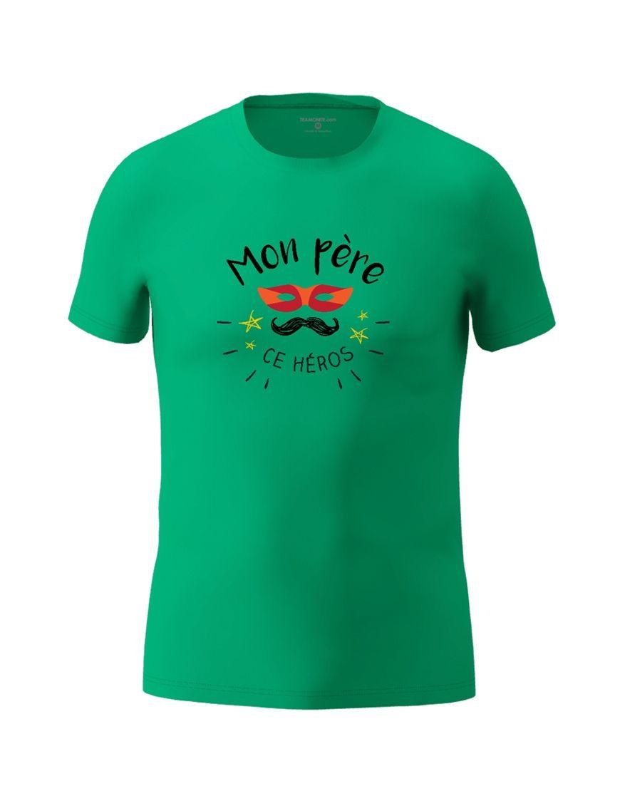 dad hero t shirt emerald green