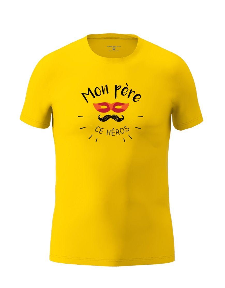 dad hero t shirt yellow